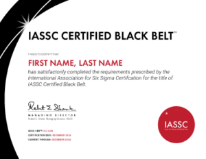 Lean Six Sigma Certification Iassc Org International Association