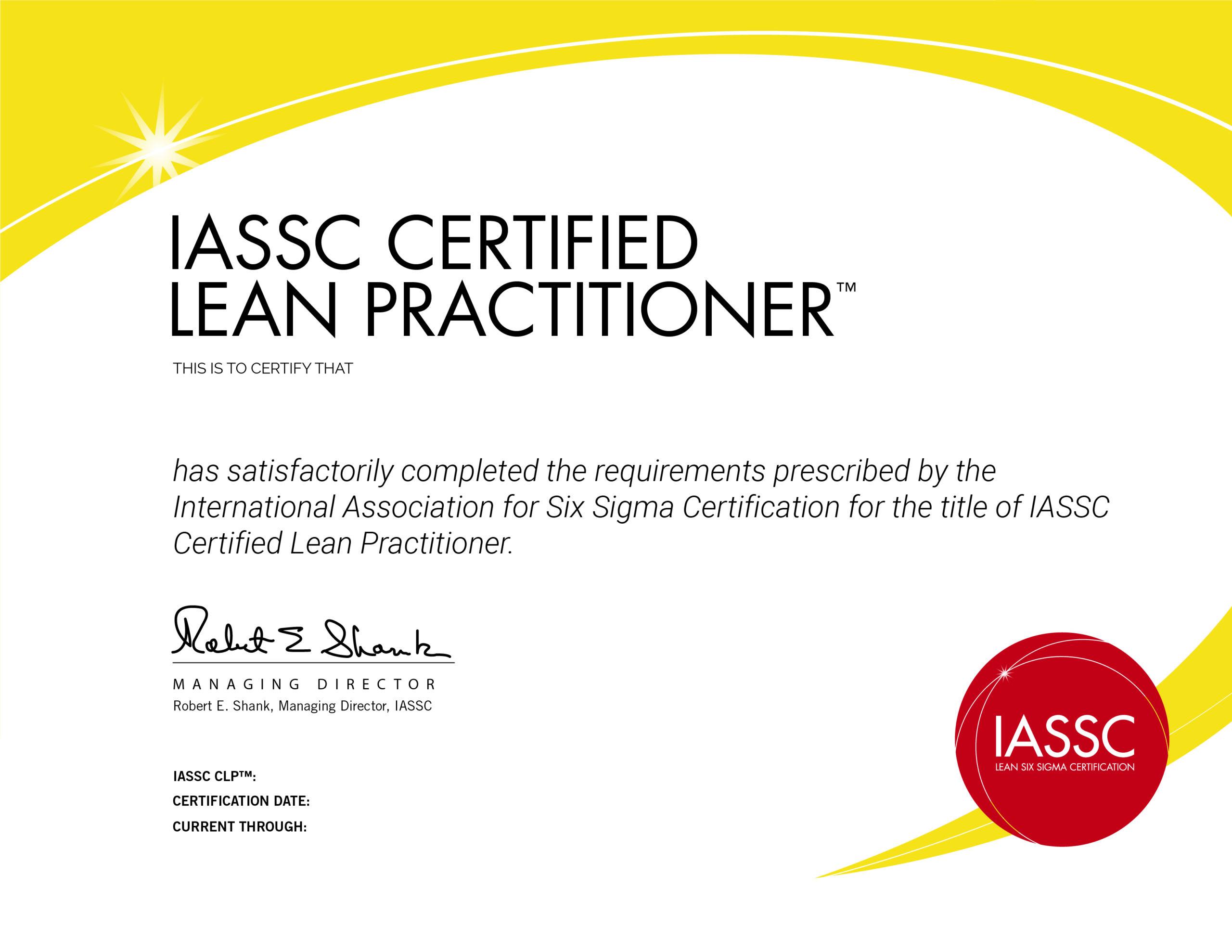 six sigma yellow belt certification